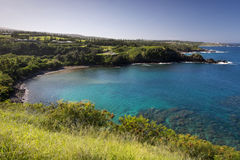 Honolua bay on the west coast of Maui, Hawaii Royalty Free Stock Images