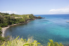 Honolua fjärd Hawaii arkivbild