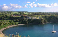 Honolua Schacht Maui Hawaii Stockbild