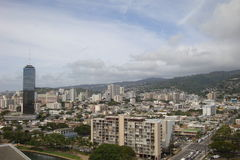 Honolulu from the air Royalty Free Stock Image