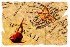 Honolulu-alte Karte Lizenzfreie Stockfotografie
