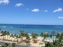 Honolulu bay waikiki Fotografia Royalty Free