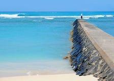 Honolulu beach. Sunny day to Honolulu, Hawaii Stock Photo