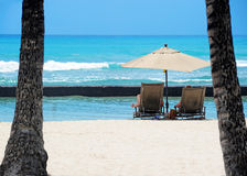 Honolulu beach. Sunny day to Honolulu, Hawaii Royalty Free Stock Images
