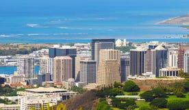 Honolulu céntrica Foto de archivo libre de regalías