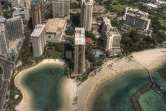 Honolulu céntrica, Hawaii foto de archivo libre de regalías