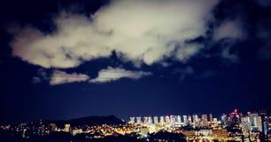 Honolulu City Night Lights stock images