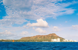 Honolulu City Skyline from Water Royalty Free Stock Photo