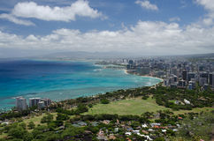 Honolulu da Diamond Head Fotografie Stock Libere da Diritti