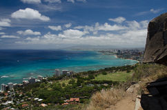 Honolulu de Diamond Head image libre de droits
