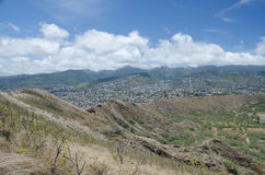 Honolulu de Diamond Head Image stock