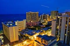 Honolulu de stad in Stock Foto's