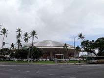 Iconic concert hall the Neal Blaisdell Arena royalty free stock image