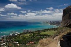 Honolulu from Diamond Head Royalty Free Stock Image