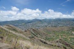 Honolulu from Diamond Head Stock Image