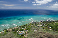 Honolulu from Diamond Head Stock Photos
