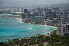 Honolulu from Diamond Head Stock Photography
