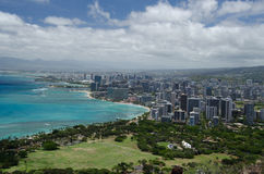 Honolulu from Diamond Head Stock Photos