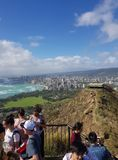 Honolulu from diamond head royalty free stock images
