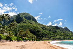 HONOLULU, Etats-Unis - AOÛT, 14 2014 - les gens ayant l'amusement à la plage d'Hawaï Photo stock