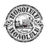 Honolulu grunge rubber stamp royalty free illustration