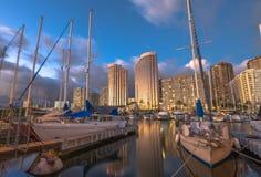 Honolulu hamnskymning Fotografering för Bildbyråer