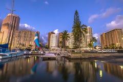 Honolulu Harbor Skyline Stock Photos