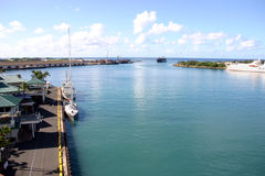 Honolulu Harbor Two. Elevated view of Honolulu Harbor Royalty Free Stock Photo