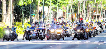 Honolulu, Havaí, EUA - 30 de maio de 2016: Parada de Waikiki Memorial Day Fotos de Stock