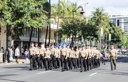 Honolulu, Havaí, EUA - 30 de maio de 2016: Parada de Waikiki Memorial Day Foto de Stock Royalty Free