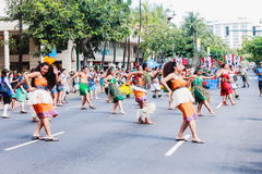 Honolulu, Havaí, EUA - 30 de maio de 2016: Parada de Waikiki Memorial Day Fotos de Stock Royalty Free