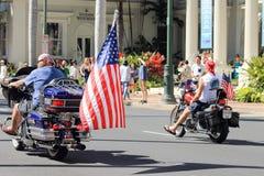 Honolulu, Hawai, U.S.A. - 30 maggio 2016: Parata di Waikiki Memorial Day Fotografia Stock Libera da Diritti