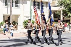 Honolulu, Hawai, U.S.A. - 30 maggio 2016: Parata di Waikiki Memorial Day Fotografia Stock