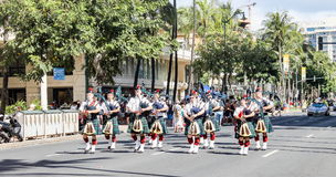 Honolulu, Hawai, U.S.A. - 30 maggio 2016: Parata di Waikiki Memorial Day Immagine Stock Libera da Diritti