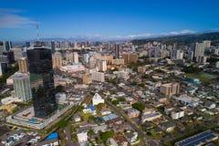 Honolulu Hawaii aerial image Royalty Free Stock Photo