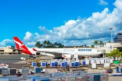 HONOLULU, HAWAII - 16. FEBRUAR 2018: Ansicht des Flugzeugs am Flughafen Kopieren Sie Raum für Text stockfotos