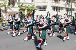 Honolulu, Hawaii, USA - 30. Mai 2016: Parade Waikiki Memorial Day Stockfotos