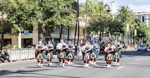 Honolulu Hawaii, USA - Maj 30, 2016: Waikiki Memorial Day ståtar Royaltyfri Bild