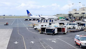 Honolulu, Hawaii, USA - May 31, 2016: United Airline Aircraft at Honolulu International Airport. Daniel K. Inouye International Airport, also known as Honolulu Royalty Free Stock Image
