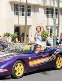Honolulu, Hawaii, USA - May 30, 2016: Waikiki Memorial Day Parade Stock Photography