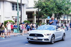 Honolulu, Hawaii, USA - May 30, 2016: Waikiki Memorial Day Parade. Teila Tuli, also known as Taylor Wily is an American actor and a former sumo wrestler and Stock Photos