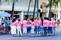 Honolulu, Hawaje, usa - Maj 30, 2016: Waikiki dnia pamięci parada Fotografia Royalty Free