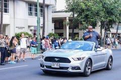 Honolulu, Hawaje, usa - Maj 30, 2016: Waikiki dnia pamięci parada Zdjęcia Stock
