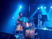 Musician Jerome James adrums on stage Stock Image