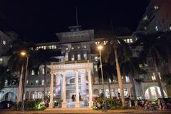 Moana Hotel in Honolulu. Honolulu, HI: September 27, 2016: Moana Hotel on the island of Oahu, state of Hawaii. Moana Hotel opened in 1901 Stock Images