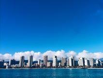 Honolulu horisont arkivfoton