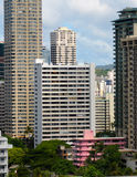 Honolulu hotels Stock Image