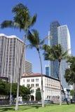 Honolulu i stadens centrum gator Arkivfoto