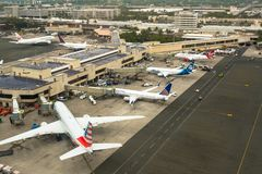 Free Honolulu International Airport From Above Stock Image - 124992861