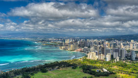 Honolulu and Mamala Bay Royalty Free Stock Image
